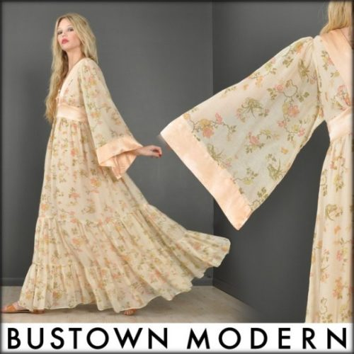 bustown modern gunne sax vintage floral dress