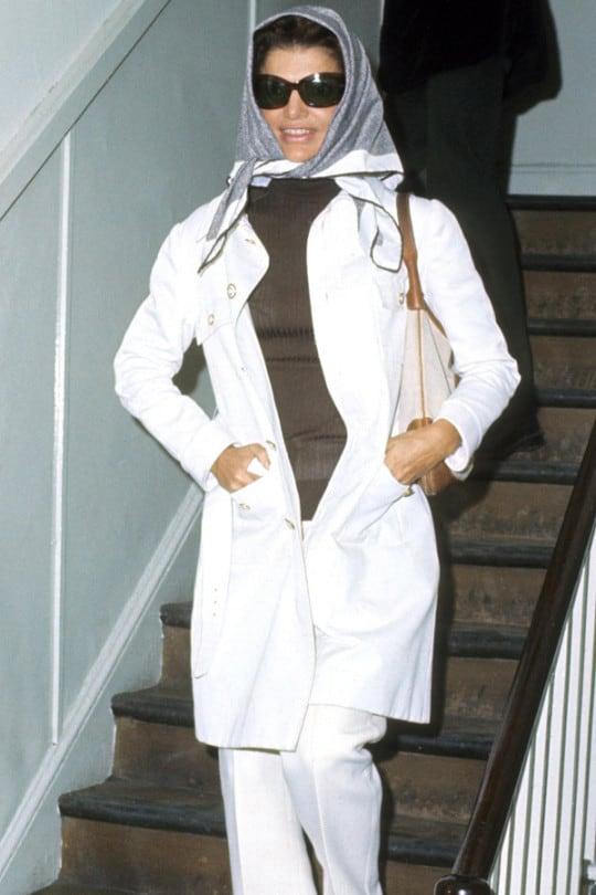 London September 10th 1970. Jackie Onassis shopping in Soho (Photo by Tom Wargacki/WireImage)