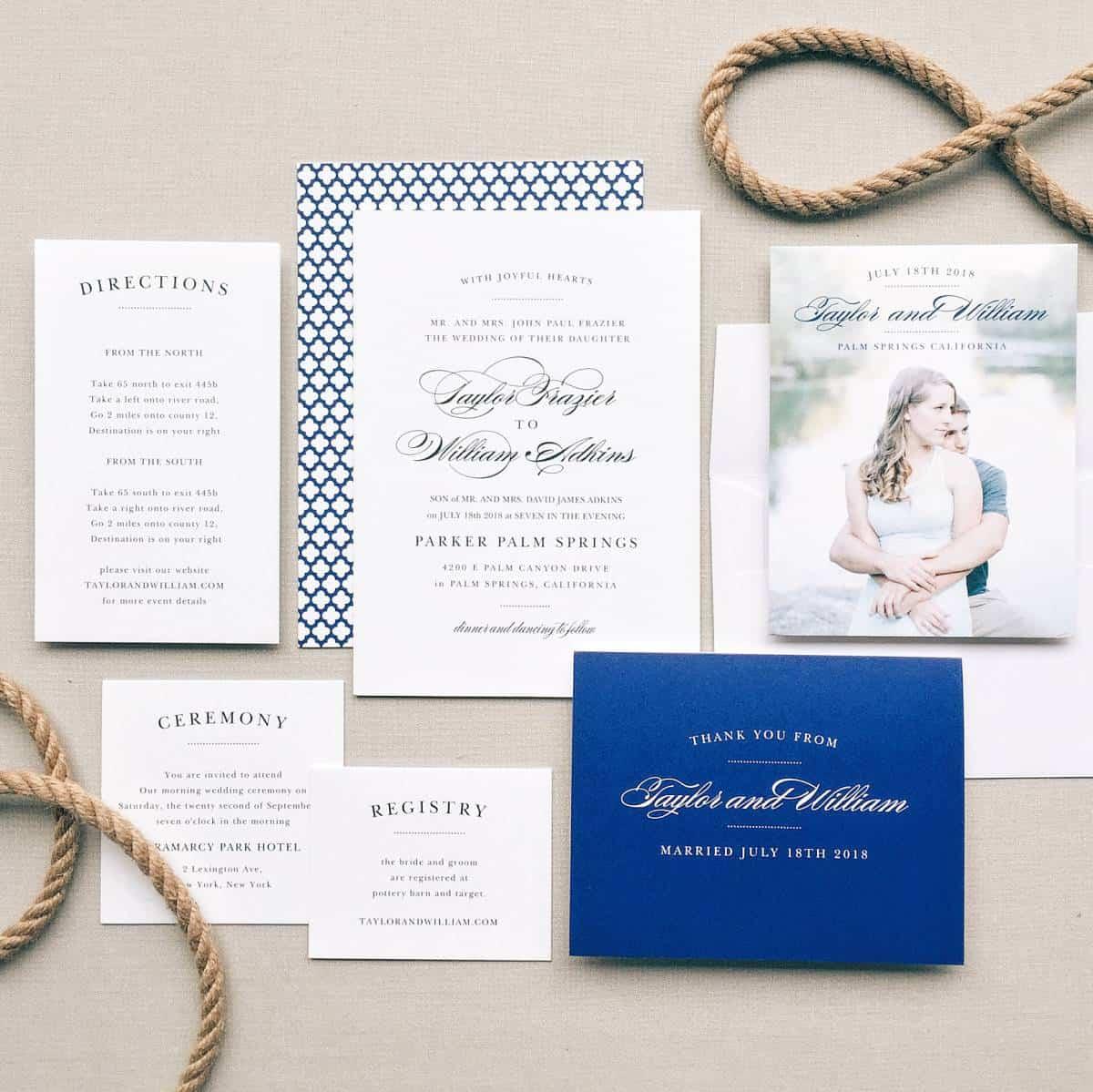 7 Vintage Wedding Invitations by Basic Invite