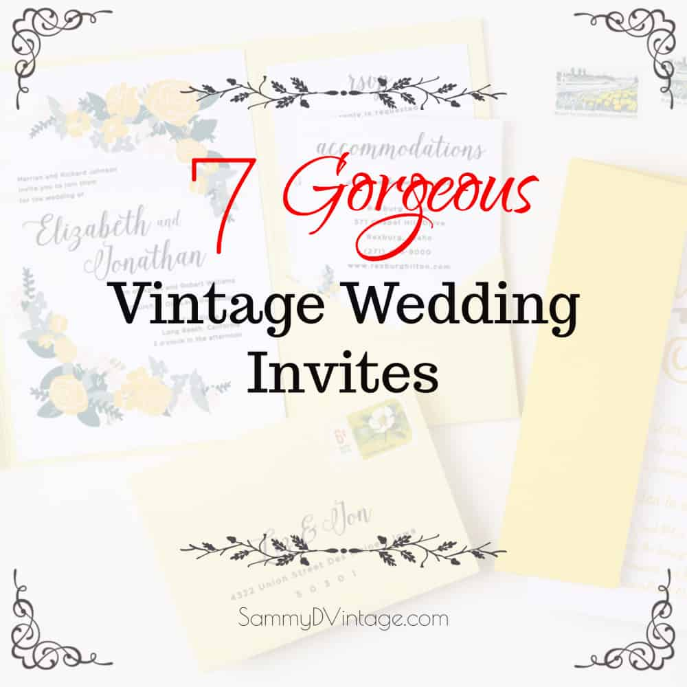 7 Vintage Wedding Invitations by Basic Invite