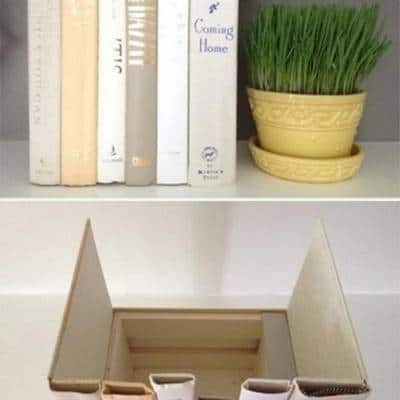 Fake It 'Til You Make It Book Storage Idea