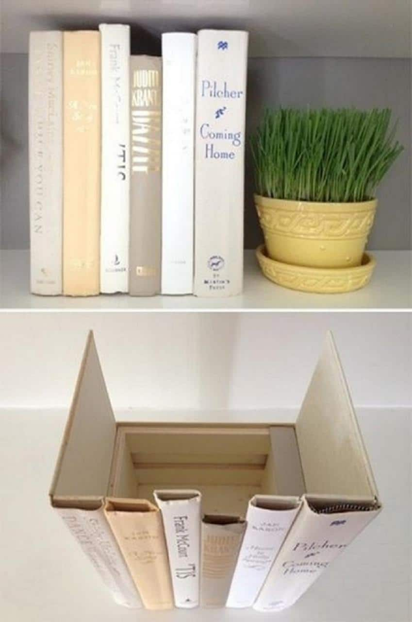 Fake It 'Til You Make It Book Storage Idea