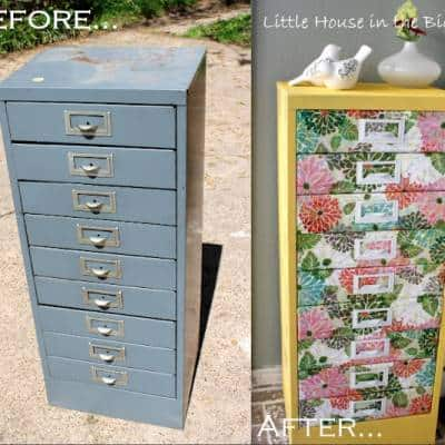 Best Idea For Reviving An Old Filing Cabinet