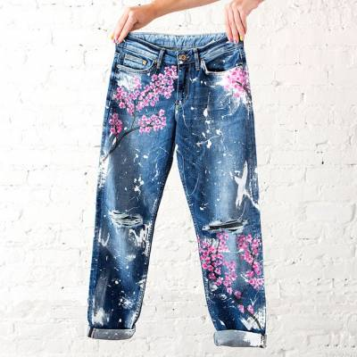 Why Painted Jeans Are Fun To Wear (And Make!)