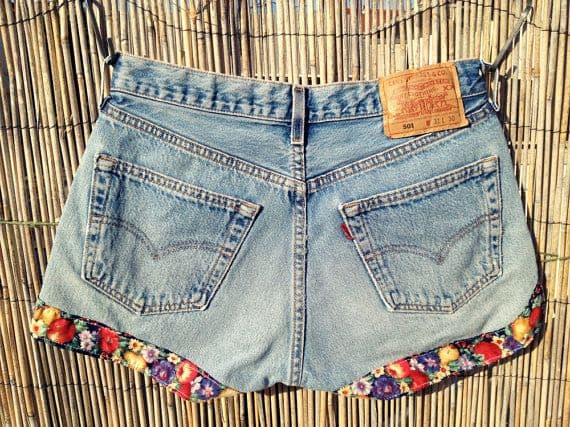 Dress Up Your Cut-Offs With Vintage Fabric