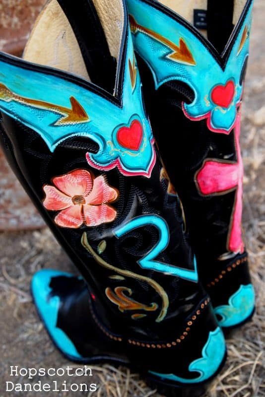 DIY Hand-Painted Cowboy Boots