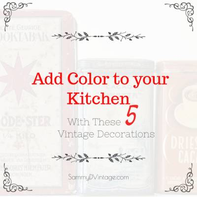 Add Color To Your Kitchen With These 5 Vintage Decorations
