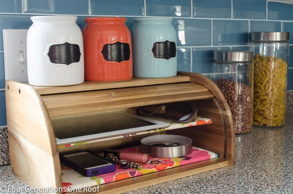 DIY Phone Charging Station with a Repurposed Breadbox