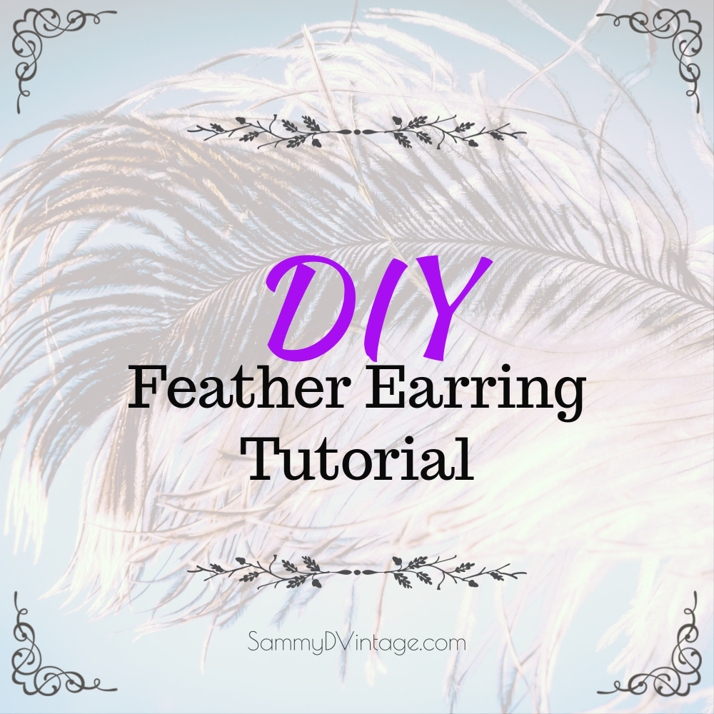 DIY Feather Earring Tutorial