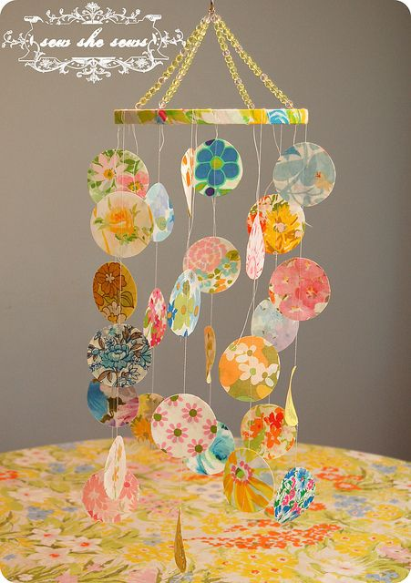 DIY Vintage Crib Mobile — Sweetest Baby Shower Gift