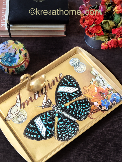 Best Decoupage Project: Transform a Cookie Sheet into a Serving Tray