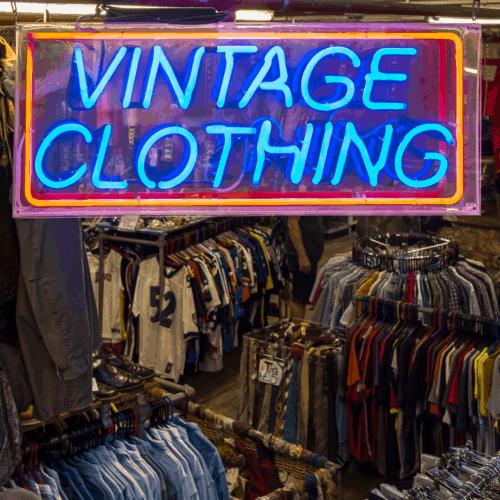 Vintage Clothing Sign