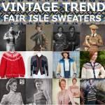 vintage fair isle sweaters