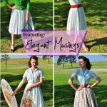 1950s circle skirt shown styled 4 ways