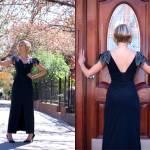 1980_Black_cocktail_dress_sequins sleaves